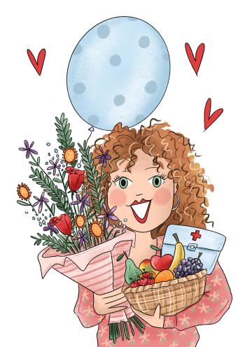 - Beterschapskaart-Fruitmand-bloemen-ballon-Matia-studio