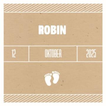 - bruin-geboorte-kaartje-met-twee-voetjes