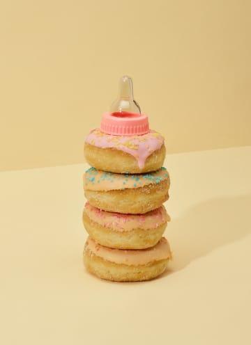 - Babykaart-zoon-dochter-grappig-donut-speen