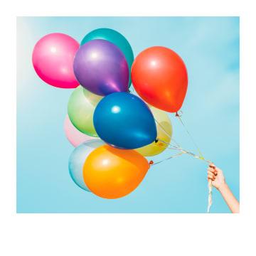 - Verjaardagskaart-tros-met-ballonnen-Polaroid