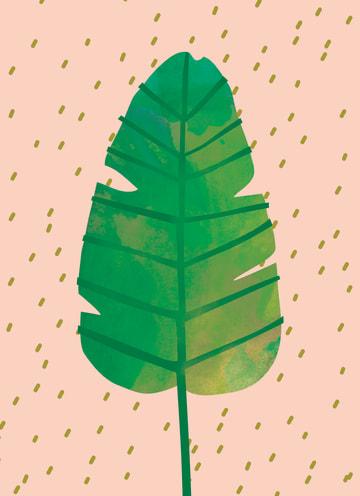 - botanical-blanco-kaart-groen-blad
