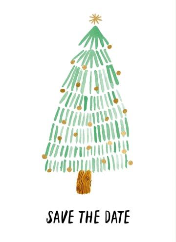 - Kerst-uitnodiging-Save-the-date-kerstboom
