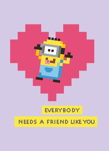 - verjaardagskaart-minions-hartje-everybody-needs-a-friend-like-you