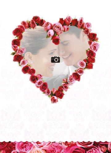 - fotokaart-hart-met-rozen