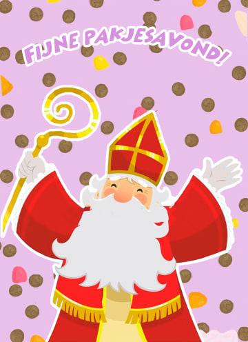 - Sinterklaaskaart-Fijne-pakjesavond