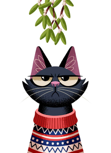 - grumpy-cat-under-the-mistletoe