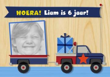- hoera-kids-jongen-auto-fotokaart