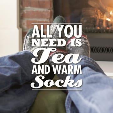- openhaard-sokken-been