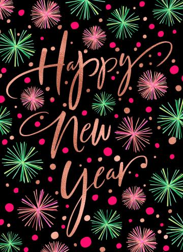 - nieuwjaarskaart-klassiek-getekend-vuurwerk-happy-new-year