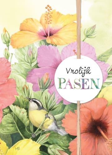 - marjolein-bastin-kaart-met-bloemen-en-vogel-vrolijk-pasen