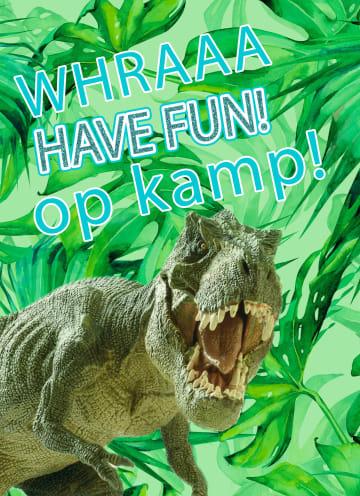 - Op-kamp-kaart-trek-dinosaurus-have-fun