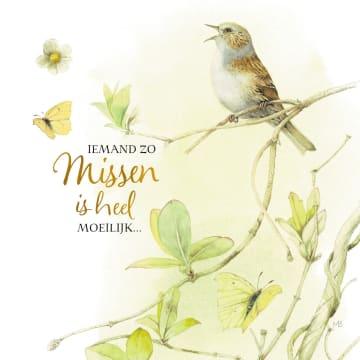 - Kaart-flowers-by-Marjolein-Bastin-Iemand-zo-missen-is-heel-moeilijk