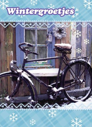 - fiets-in-de-sneeuw