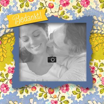 - fotokaart-gekleurde-bloemenrand