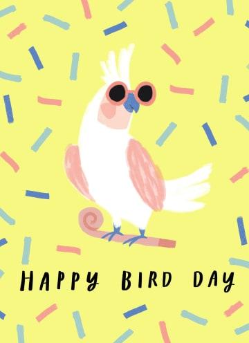 - Verjaardagskaart-man-vrouw-hip-Happy-Bird-Day