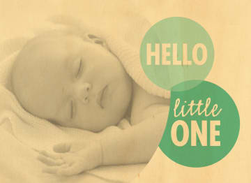 - hello-little-one-fotokaart-groene-cirkel