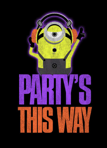 - Verjaardagskaart-Minion-party-is-this-way