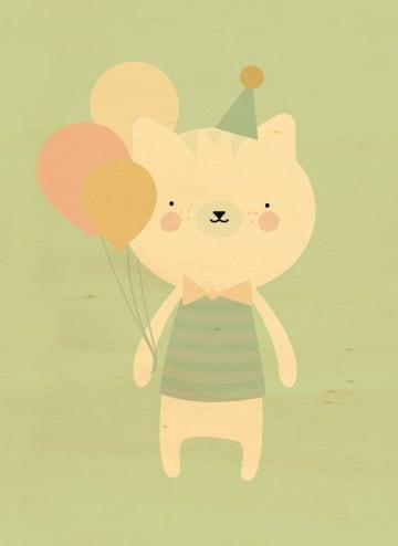 - ballonnen-poes-feestmuts