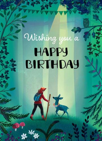 - verjaardagskaart-man-vrouw-tiener-bos-wandelaar