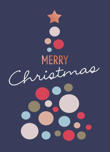 - Kerstkaart-zakelijk-Gekleurde--kerstboom