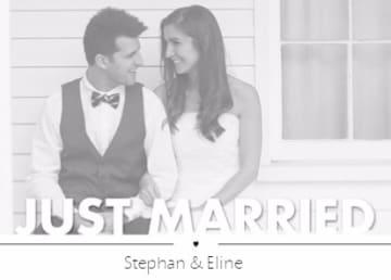 - chique-just-married-fotokaart