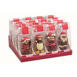 Chocolade holfiguur luxe zakje Kerst 55 G img