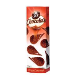 Chocolade schijfjes karamel 125 G img