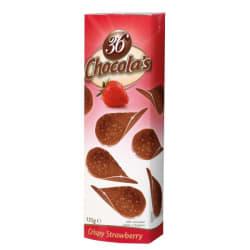 Chocolade schijfjes aardbei 125 G img