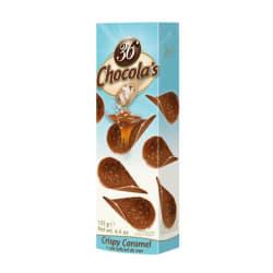 Chocolade schijfjes karamel-zeezout 125 G img
