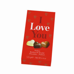 Cœurs en chocolat i love you 125 g img