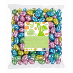 Milk chocolate Easter eggs with hazelnut flavour 1 KG img