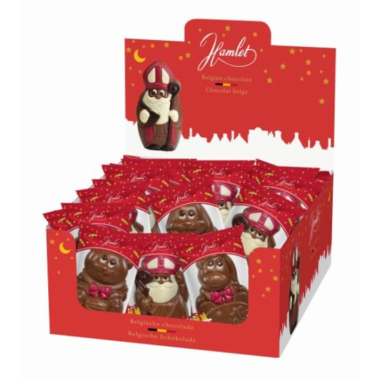 Chocolade holfiguur 'mix' 50 G-1 708.01.0207 img