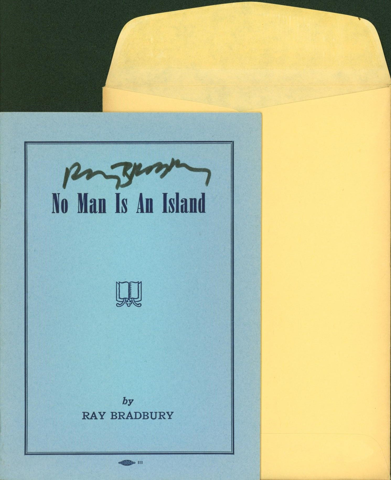 Ray Bradbury / No Man Is An Island 1952 First Edition