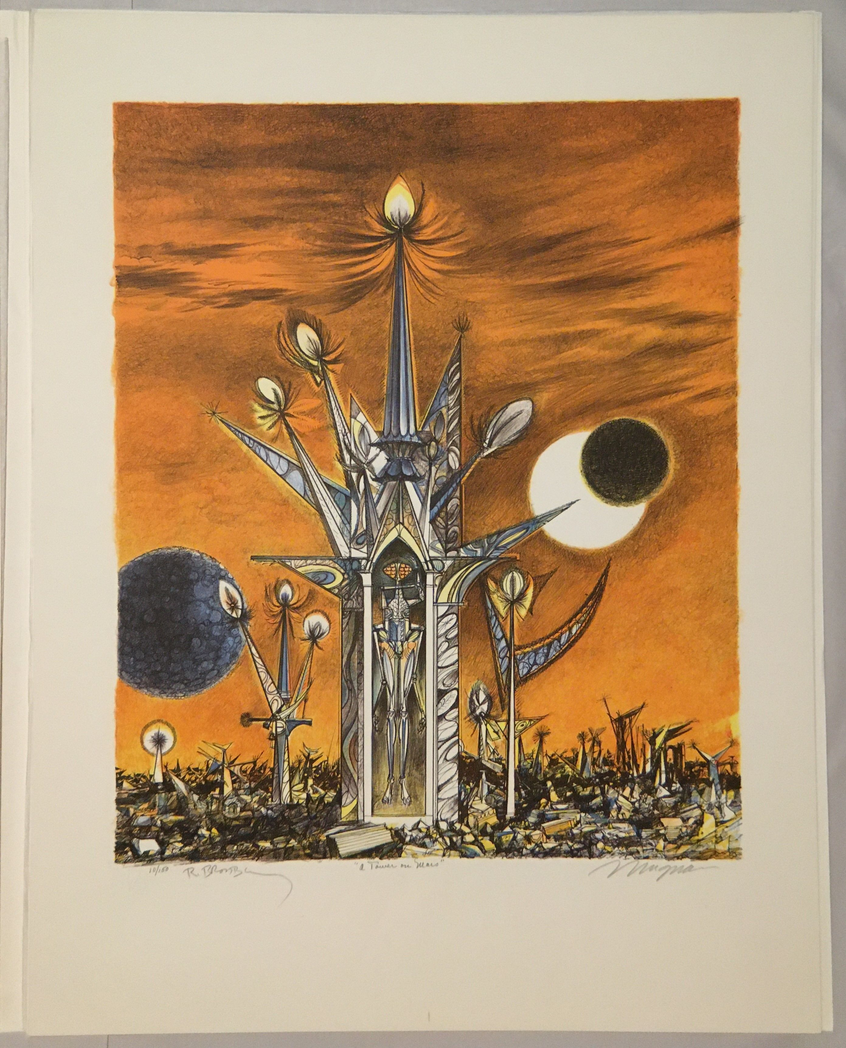 Joseph Mugnaini / Ten Views Of The Moon Illustrated 1981