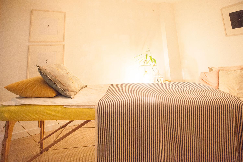 Table de massage pliante 70cm, réglable en hauteur