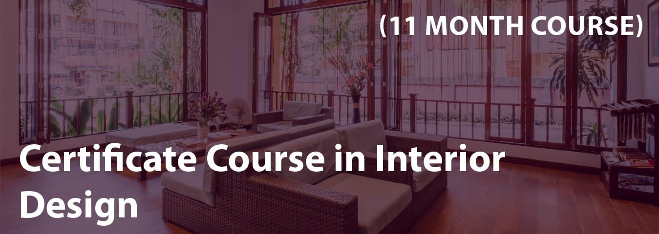 certificate course in interior design