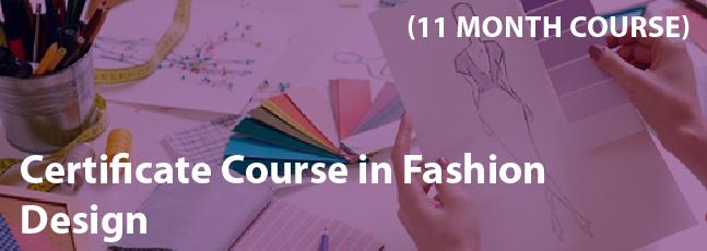 Certificate Course in Fashion Design