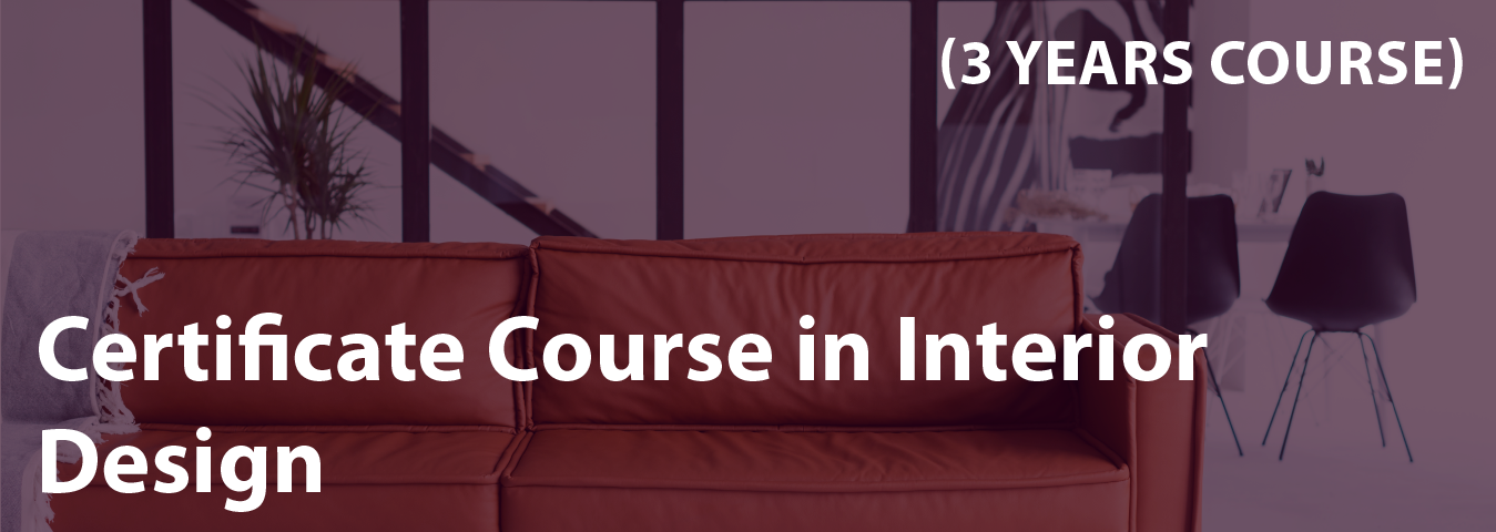certificate course interior design 3years