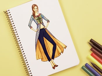 Fashion Illustration - Indo-Western Clothes (Short Course)