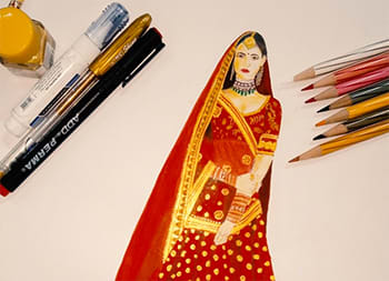 Fashion Illustration - Wedding Wear