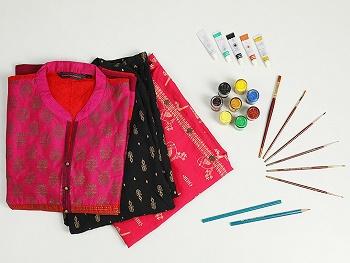 Fabric Designing - Indian Handpainting