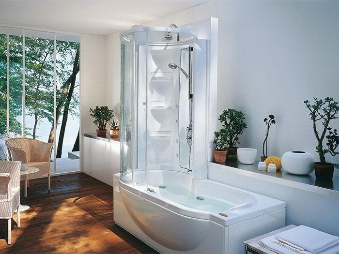 Комбинированные боксы для ванной два в одном - душ и ванна.