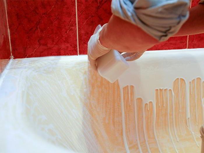 Реставрация ванны жидким акрилом пошаговая инструкция.