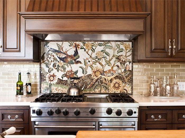Мозаика из плитки своими руками - виды, укладка в ванной или на кухне.