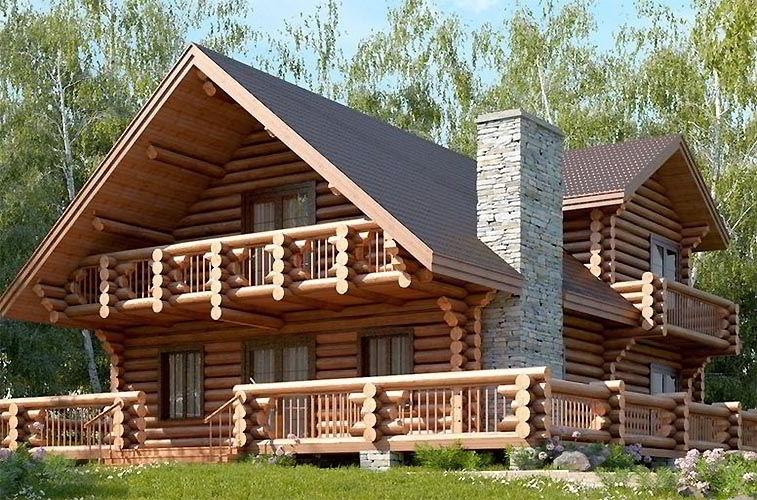 Внешний вид рубленого дома цоколь, стены и крыша — на что обратить внимание?