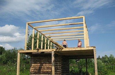 монтаж п образных ферм на крыше