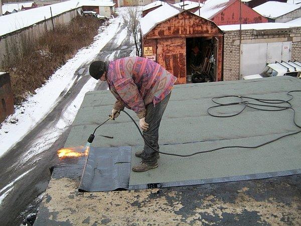 установка нового покрытия на гараж