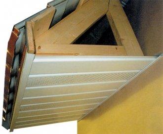использование софитов для свеса крыши