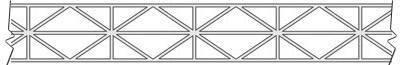 панель с диагональными ребрами