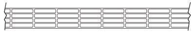 панель с прямоугольными сотами